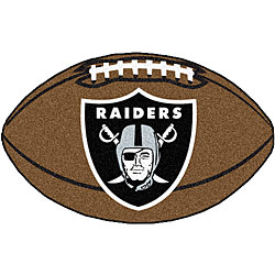 Fanmats NFL Oakland Raiders Football Mat (22 in. x 35 in.)