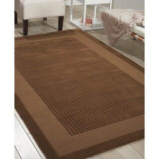 Nourison Hand-tufted Westport Mocca Wool Rug (5' x 8')