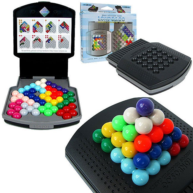 Lonpos Brain Intelligence Colorful Cabin 2D and 3D Lock-on Board Games - Thumbnail 0