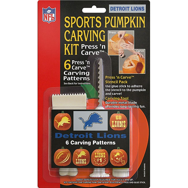 Detroit Lions Pumpkin Carving Kit