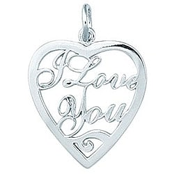 Sterling Silver 'I Love You' Heart Charm