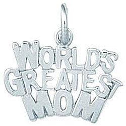 Sterling Silver World's Greatest Mom Charm