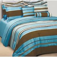 Ultra-Soft Microfiber Stripe Reversible 3-Piece Comforter Set