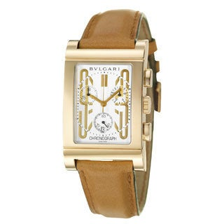 Bvlgari Rettangolo Men's 18k Yellow Gold Watch