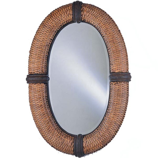 Bombay Collection Wicker-frame Mirror