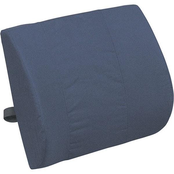 Mabis Healthcare Contoured Foam Lumbar Cushion- Navy