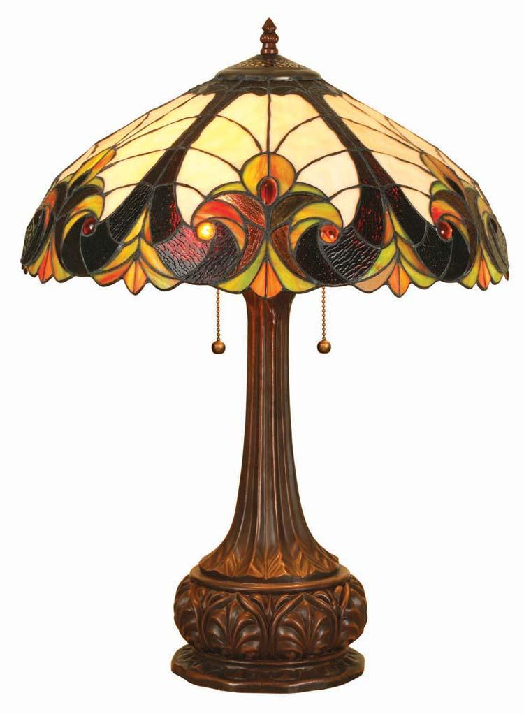 Tiffany Style Victorian Bronze Base Table Lamp Free