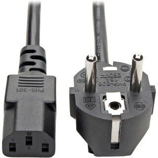 Tripp Lite 6ft 2-Prong Computer Power Cord European Cable C13 to SCHU