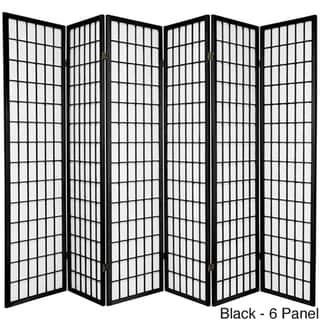 Handmade Wood and Rice Paper Windowpane Shoji Screen (China)