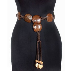 March of Elephants Eco Friendly Coconut Shell Strung on Hand Knotted Nylon Cord Adjustable Length Wo