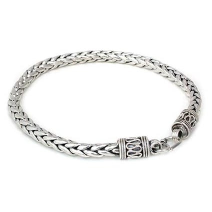 Handmade Sterling Silver Men S Strength Bracelet Thailand On Free Shipping Today 3446278