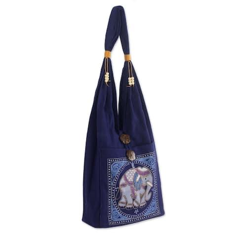 Handmade Cotton Lucky Elephant Handbag (Thailand)