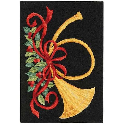 Safavieh Hand-hooked Vintage Poster Mireia Holiday Wool Rug