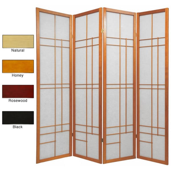 Wood and Rice Paper Eudes 4-panel Shoji Screen (China). Opens flyout.