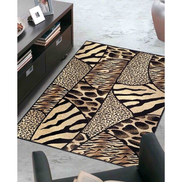 Admire Home Living Virginia Animal Print Area Rug (3'3 x 4'11)