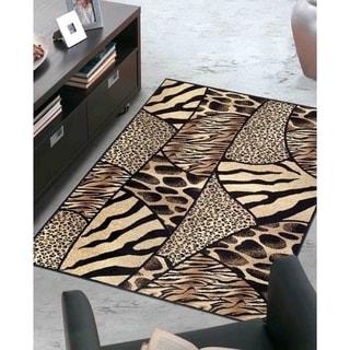 Admire Home Living Virginia Animal Print Area Rug (3'3 x 4'11) - 3'3 x 4'11