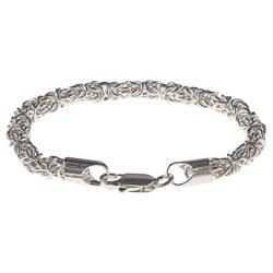 Simon Frank 14k Silver Plate Overlay 7.5-inch Byzantine Bracelet