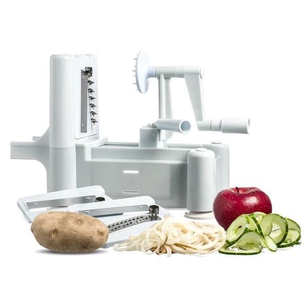 Shop paderno world cuisine a4982799 tri blade plastic - Paderno world cuisine spiral vegetable slicer ...