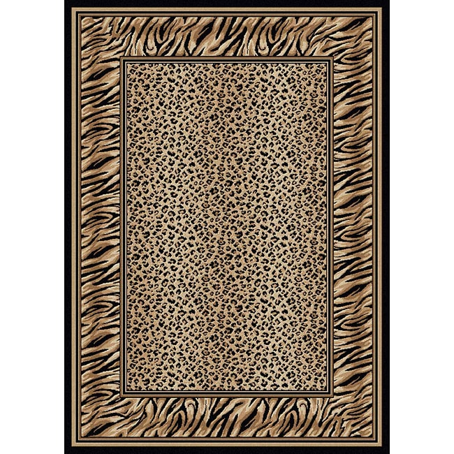 Admire Home Living Virginia Leopard Print Rug (5'5 x 7'7)