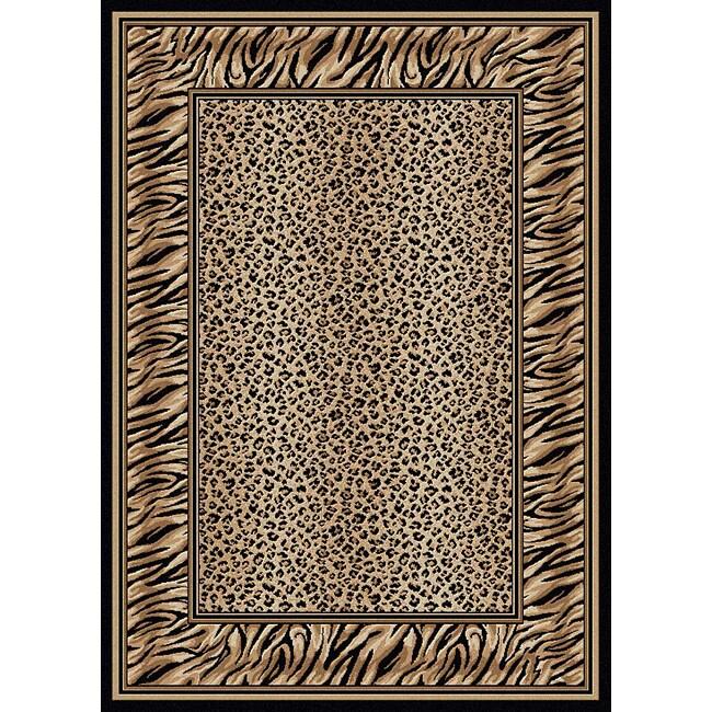 Admire Home Living Virginia Leopard Print Rug (7'9 x 11')