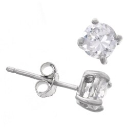 Journee Collection Sterling Silver CZ 5-mm Round Stud Earrings