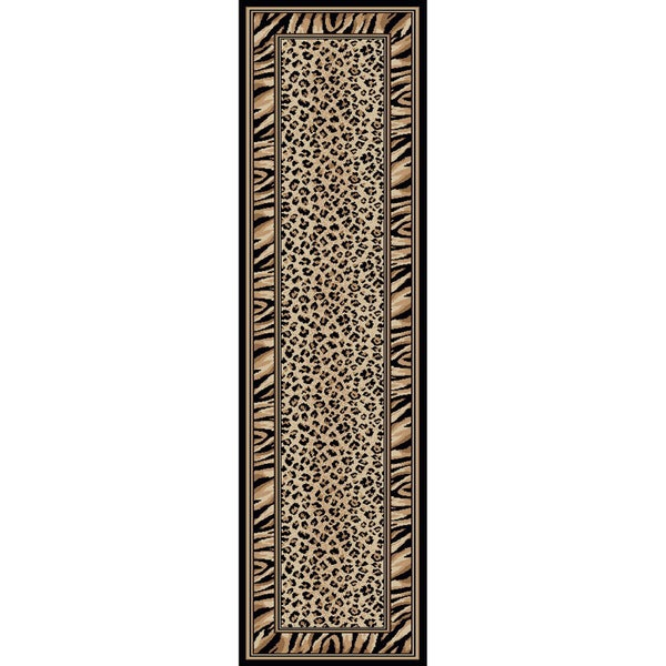 Admire Home Living Virginia Leopard Area Rug (2'2 x 7'7)