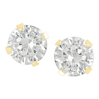 Journee Collection Cubic Zirconia 4-mm Round Stud Earrings