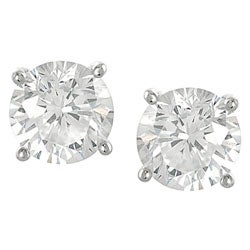 Journee Sterling Silver CZ 7-mm Round Stud Earrings