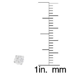 Journee Collection  Sterling Silver CZ 3-mm Round Stud Earrings - Thumbnail 2