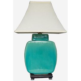 Handmade Porcelain Azure Jar Lamp (China)