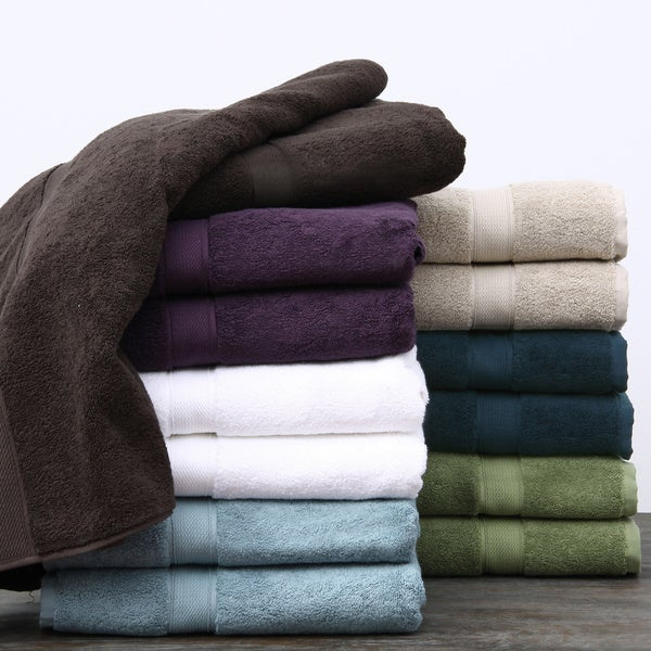 Supreme 800-gram Egyptian Two-Ply Cotton/Terry 6-piece Towel Set