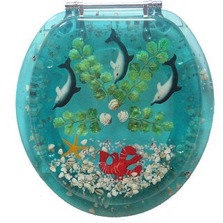 Trimmer Polyresin Dolphins Toilet Seat