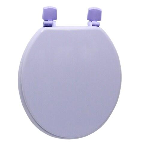 Corn Flower Purple Molded Wood Solid Toilet Seat