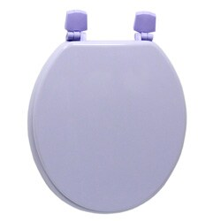 Corn Flower Purple Molded Wood Solid Toilet Seat