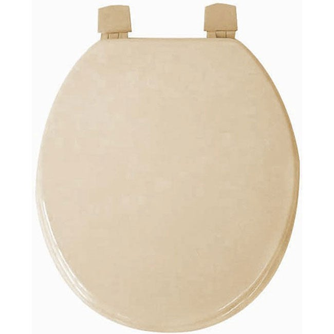 Taupe (Brown) Molded Wood Solid Toilet Seat (Trimmer? Mol...
