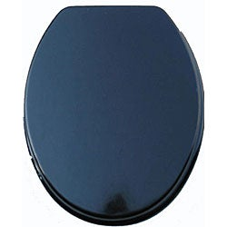 Black Molded Wood Solid Toilet Seat