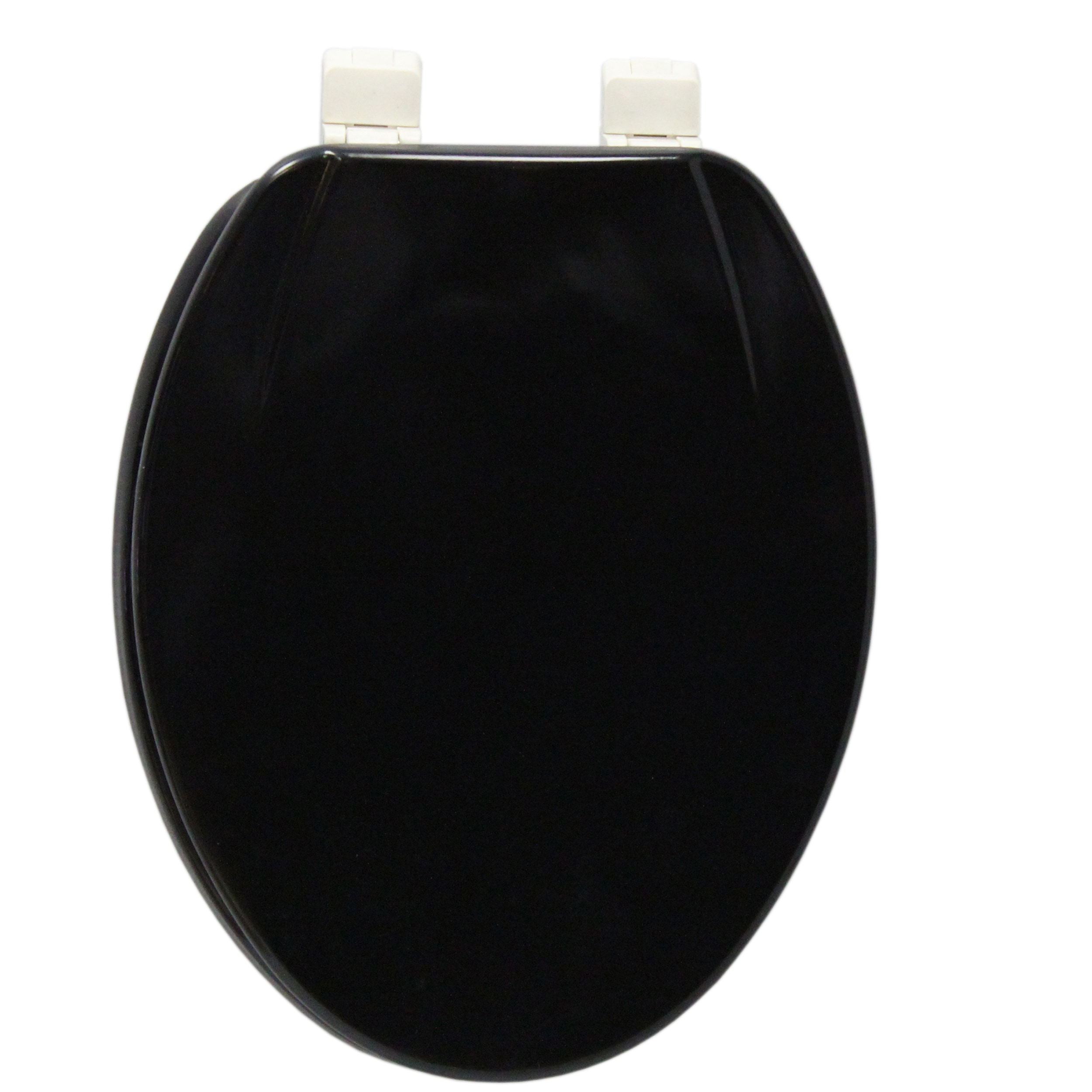 Swell Details About Elongated Black Molded Wood Solid Toilet Seat Black Ibusinesslaw Wood Chair Design Ideas Ibusinesslaworg
