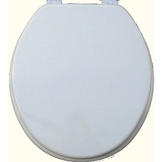 White Solid Molded Wood Toilet Seat