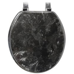 gold glitter toilet seat. Black Marbleized Molded Wood Toilet Seat Seats For Less  Overstock com