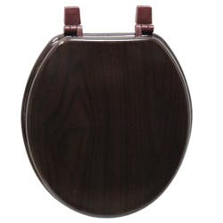 wooden black toilet seat. Deep Wood Grain Molded Toilet Seat Toilets For Less  Overstock com