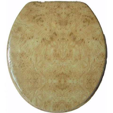 Wood Grain Molded Wood Toilet Seat