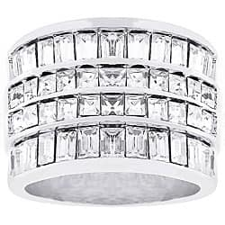 Kate Bissett Classic Sensation Silvertone CZ Ring|https://ak1.ostkcdn.com/images/products/3450382/Kate-Bissett-Classic-Sensation-Silvertone-CZ-Ring-P11525445.jpg?impolicy=medium