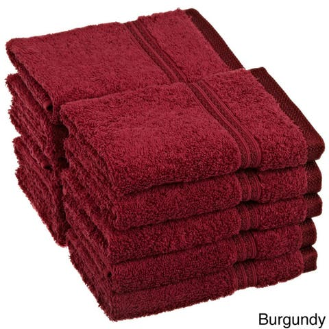 Superior Absorbent Egyptian Cotton 600 GSM Washcloth (Set of 10)