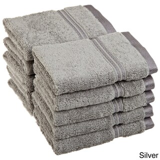 Superior Plush & Absorbent 600 GSM Combed Cotton Washcloth (Set of 10) (Option: Silver)