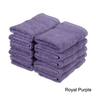 Superior Plush & Absorbent 600 GSM Combed Cotton Washcloth (Set of 10) (More options available)