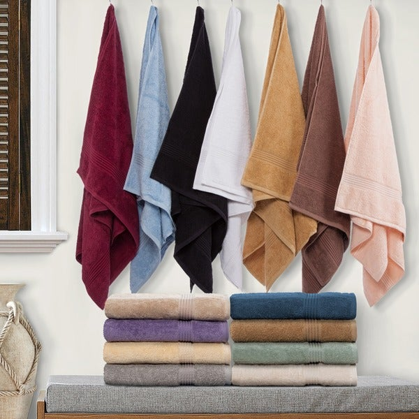 Superior Collection Luxurious 100-percent Premium Long-staple Combed Cotton Hand Towel Set (Set of 8)