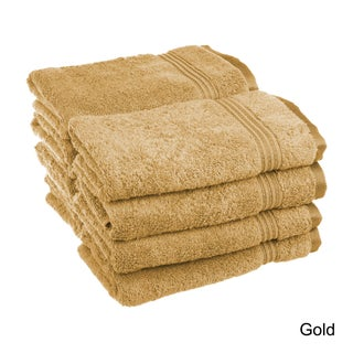 Superior Plush and Absorbent 600 GSM Combed Cotton Hand Towel (Set of 8) (Option: Gold)