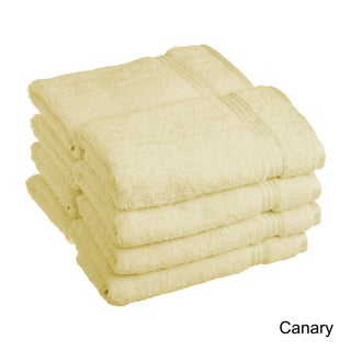 Superior Plush and Absorbent 600 GSM Combed Cotton Hand Towel (Set of 8) (Option: Canary)