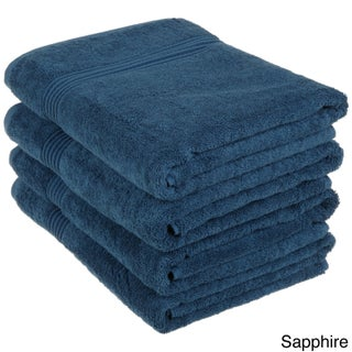 Superior Plush and Absorbent 600 GSM Combed Cotton Bath Towel (Set of 4) (More options available)