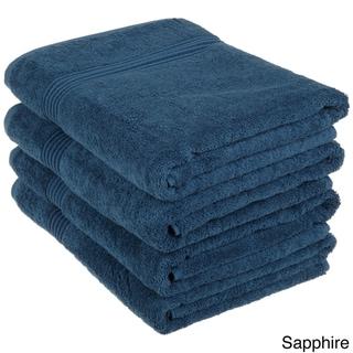 Superior Collection Luxurious 100-percent Premium Long-staple Combed Cotton Bath Towels (Set of 4)